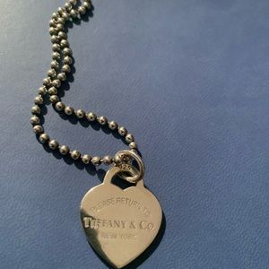Tiffany bead Necklace and a heart tag.